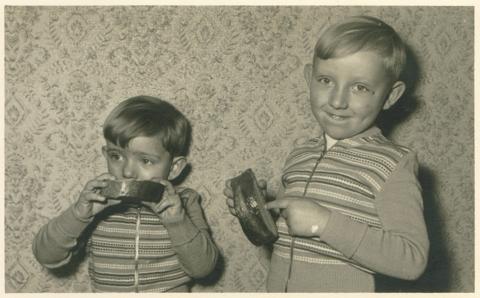 Die beiden Brüder Agethen, etwa um 1960 herum