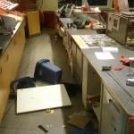 Einbrecher in der Bäckerei