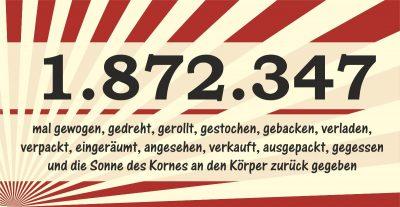 1.872.345 Millionen Gebäckstücke